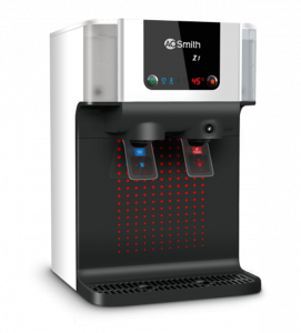 A. O. Smith Z1 Water Purifier with Hot Water Dispenser in Black and Silver